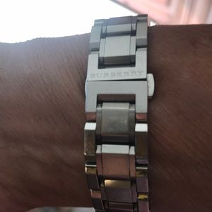 Burberry Accessories - Stainless steel Burberry Checked Trademark Watch